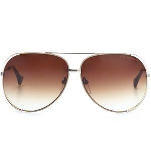 Dita Century Aviator Sunglasses Gold